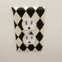 DIY Mod Podge Light Switch Cover Switcheroo